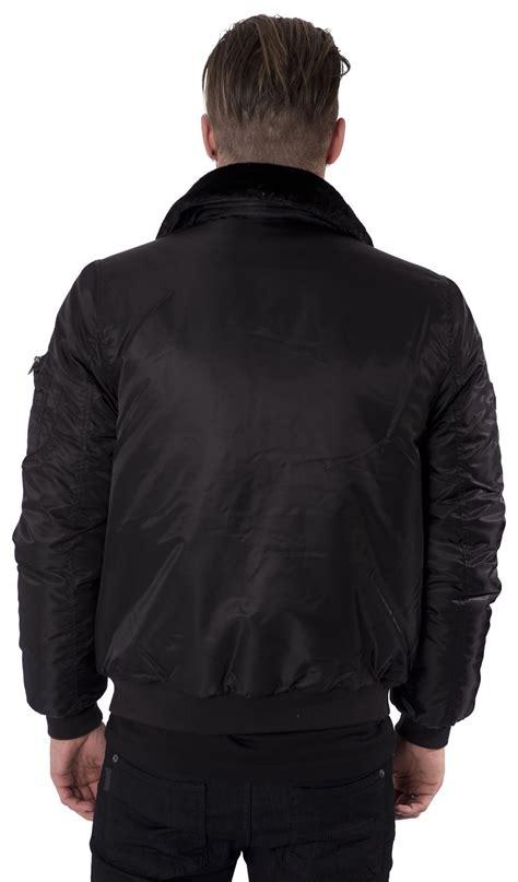 Jaket Bomber Mens Simple Pria Casual kangol mens jacket coat black faux fur collar bomber zip through casual s xl ebay