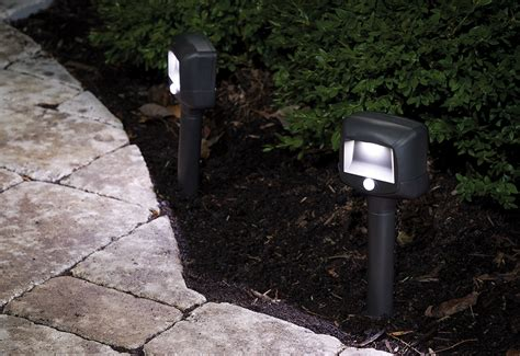 100 ft of pathway and 200 sq ft of matting motion sensing pathway lights set of 2 sharper image