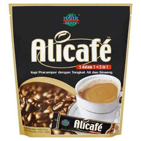 Kopi Tongkat Ali Ginseng Coffee power root alicafe 5 in 1 kopi pracur dengan tongkat