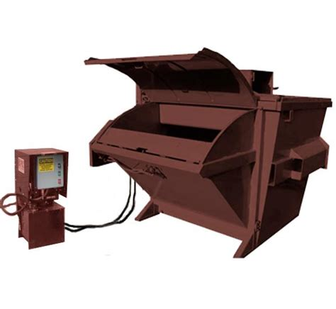 trash crusher compacting dumpsters front load and rear load compactors