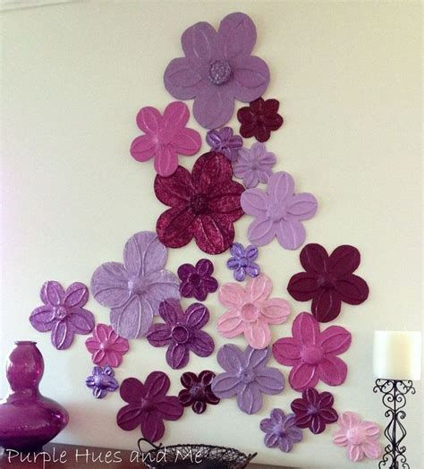 craft work for home decoration foil flowers wall d 233 cor diy jute flower and love it