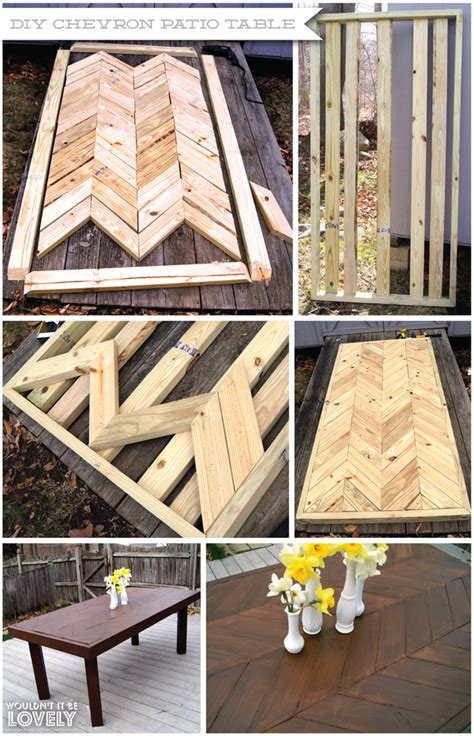 Diy Chevron Patio Table Wouldn T It Be Lovely Build Patio Table
