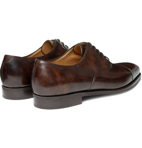 lobb oxford shoes lobb city ii leather oxford shoes in brown for lyst