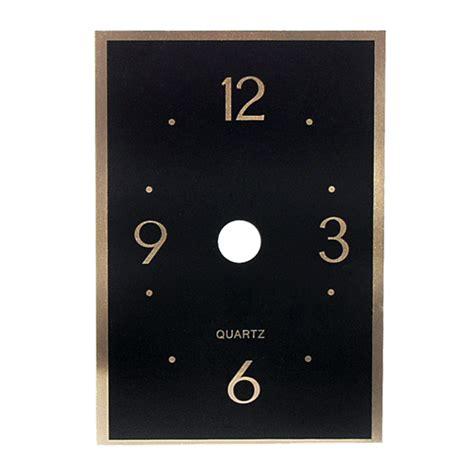 printable rectangular clock face metal clock face black rectangle walnut hollow craft