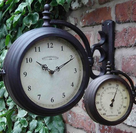 Patio Clocks Outdoor Thermometer by Best 25 Outdoor Clock Ideas On