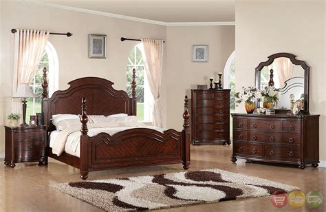 cherry bedroom sets devonshire modern english brown cherry turned posts
