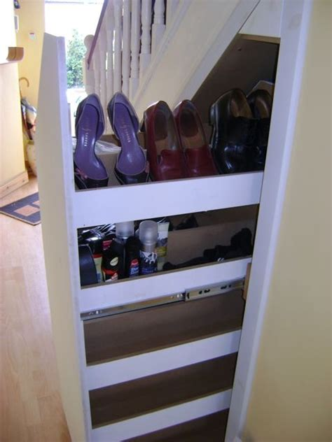 shoe storage stairs 17 best images about stair storage ideas on