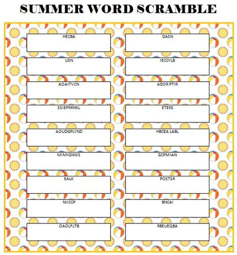 printable word games adults 17 best images about summer on pinterest random acts
