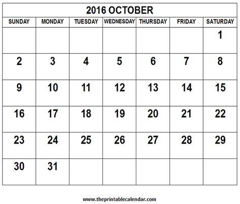 Oktober Kalender 2016 October 2016 Calendar Calendar Template 2016