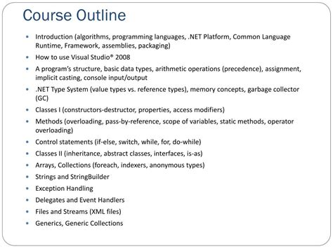 Introduction To C Programming Course Outline by Ppt It 519 Introduction To Programming Using C Powerpoint Presentation Id 329864