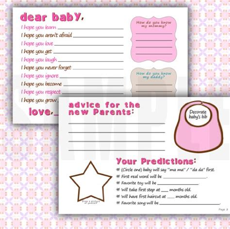 Wish Book For Baby Shower by Baby Shower Wishes Cards