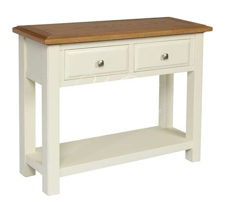 Telephone Console Table Ivory Painted Oak Large Telephone Console Table Ebay