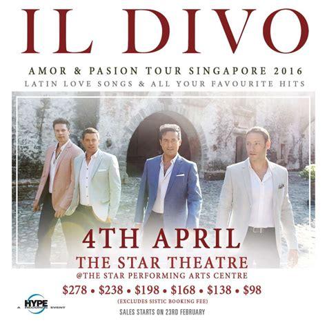 il divo tours il divo pasion tour singapore 2016 at the