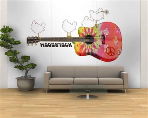 guitar wall mural wall murals wall murals home decor ideas 187 woodstock guitar wall mural