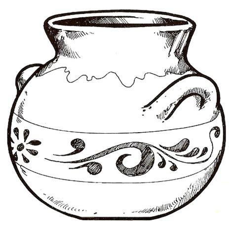 imagenes jarrones mayas dibujos de jarrones para colorear