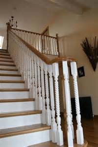 Dining Room Center Pieces white and oak stairs traditional staircase other