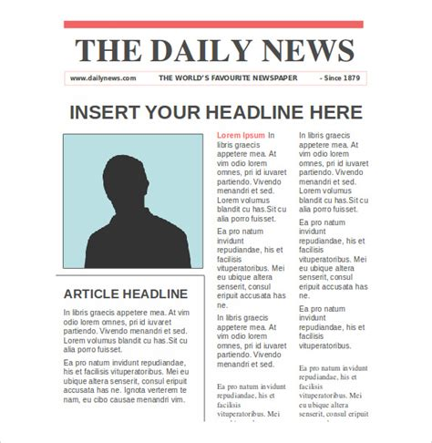 newspaper article layout template newspaper article template second page from the paper