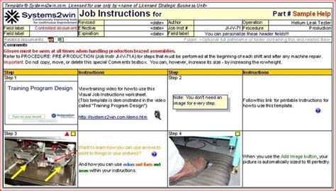 standard work templates standard work template beepmunk