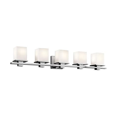 shop kichler lighting 5 light tully chrome bathroom vanity