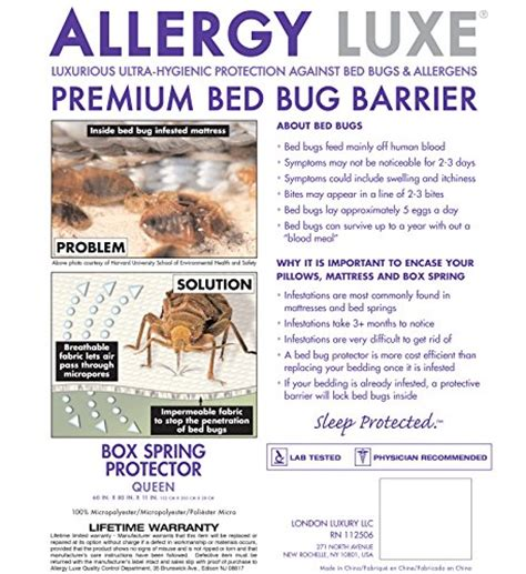 bed bug barrier allergy luxe premium box spring bed bug barrier king size