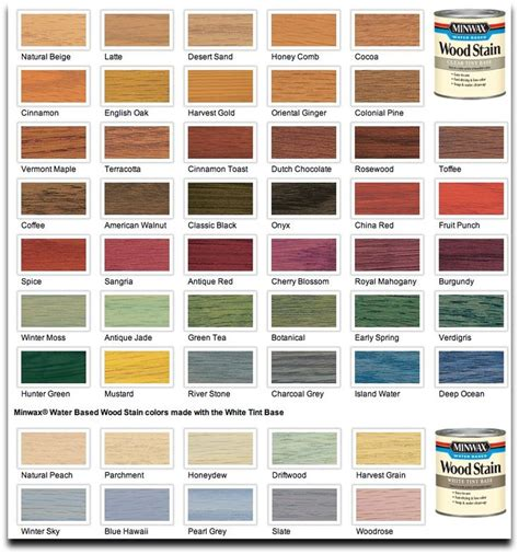 wood furniture colors chart the 25 best wood stain color chart ideas on pinterest