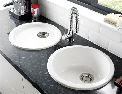 astracast lincoln r1 460mm round bowl ceramic inset or