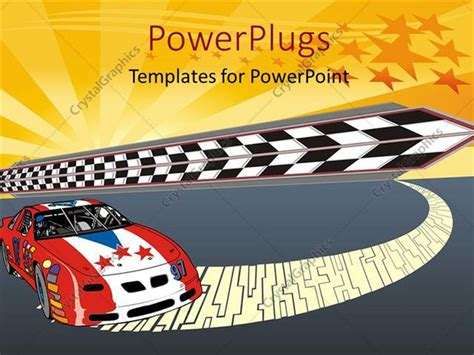 Powerpoint Template Fast Racing Car Illustration With Nice Starry Glowing Illustration 24449 Car Powerpoint Template