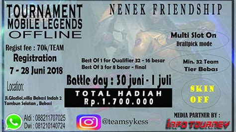 turnamen mobile legends nenek friendship