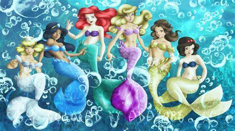 Disney Princesses As Mermaids By Ede1986 On Deviantart Pictures Of Disney Princesses As Mermaids