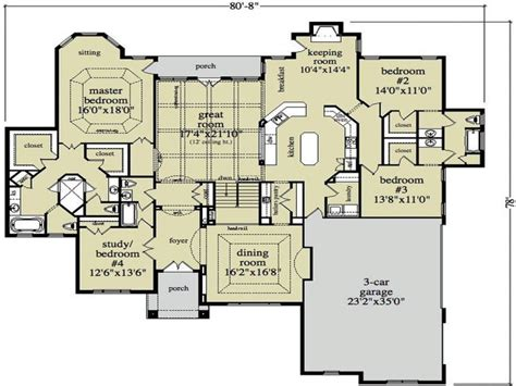 open floor ranch house plans open ranch style home floor plan luxury ranch style home