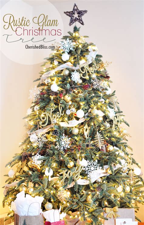 rustic glam christmas tree reveal cherished bliss
