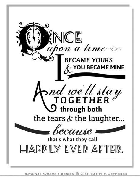 Wedding Anniversary Quotes After by Happily After Quote Print For Newlyweds Just Married