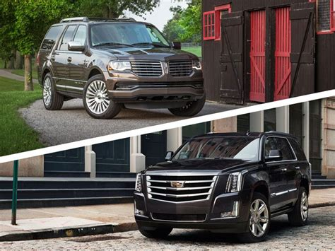 cadillac escalade navigation 2017 cadillac escalade vs 2016 lincoln navigator which is