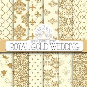wedding digital paper royal gold wedding digital
