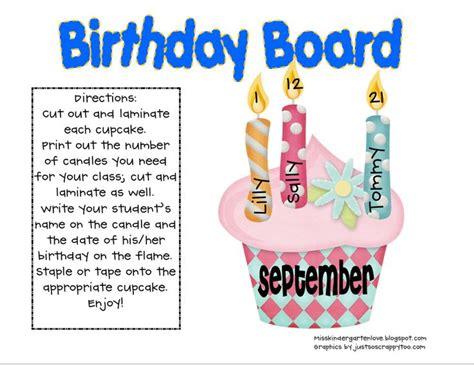 free birthday bulletin board set school birthday boards