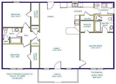 Open Floor House Plans 1500 Sq Ft 1500 Sq Ft House Plans Google Search Simple Home