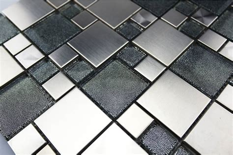 fliesen mosaik mosaikfliesen valparaiso glas edelstahl grau