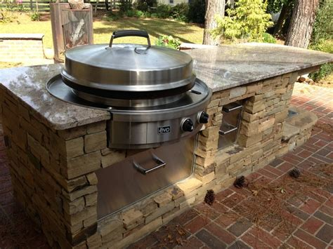 outdoor kitchen grill evo affinity 30g circular cooktop outdoor grills
