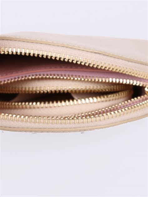 Furla Set 3 furla 3 cosmetic pouches beige and pink leather set