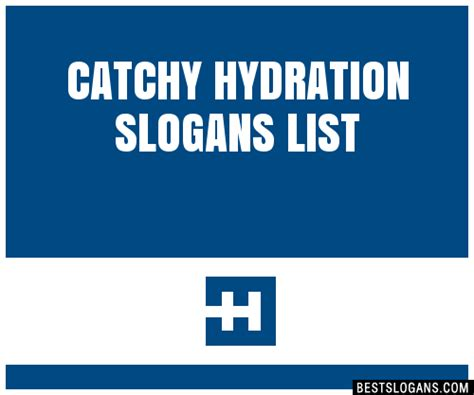 catchy hydration slogans list taglines phrases names