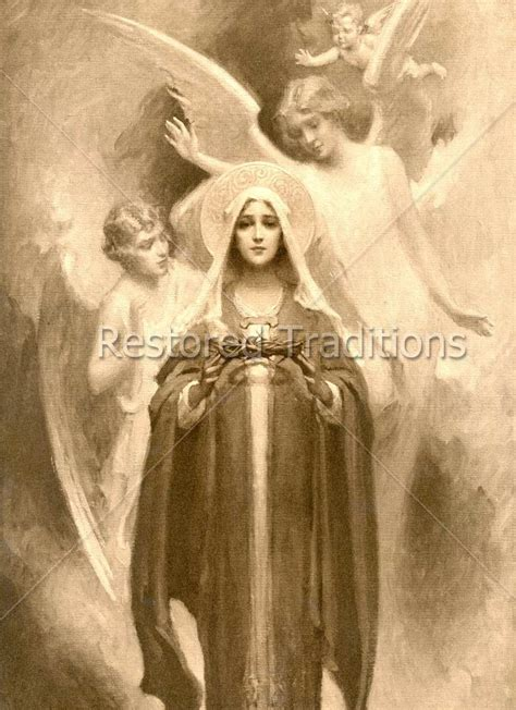 stock image mother mary holding crown of thorns