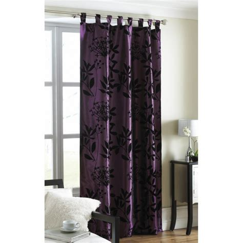 satin curtain panels plum tab top satin curtain panel hd home direct limited