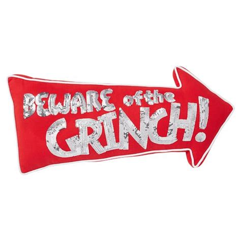 printable grinch photo booth props beware of grinch pillow pbteen