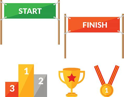 art startup finish line clip art vector images illustrations istock