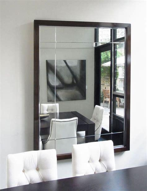framed mirror black lacquer frame  polished edge