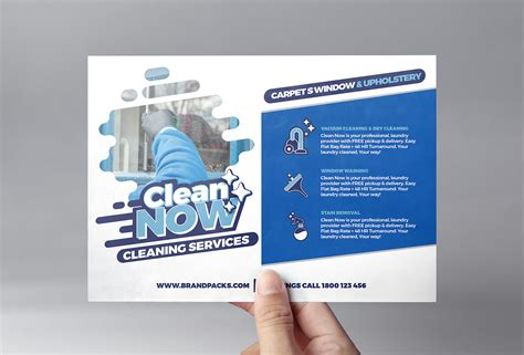 Service Brochure Template by Cleaning Service Flyer Template For Photoshop