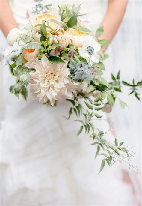 Wedding Bouquet Foliage by Wedding Bouquets Foliage Filled Dahlia Anemone Bouquet