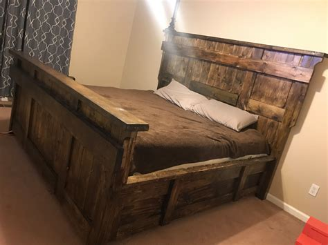 Rustic Platform Bed Platform Bed Frame With Metal Legs Modern And Rustic Wood Interalle