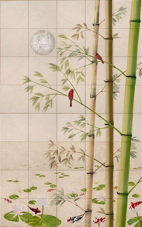 Tile Wall Mural tropical birds painting on tile murals thomas deir