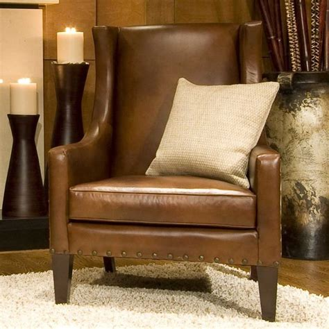leather accent chairs for living room elements fine home furnishings bristol top grain leather accent chair contemporary living